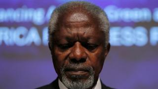 Kofi Annan 1938-2018: Former UN chief Kofi Annan dies aged 80