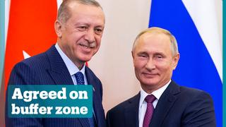 Turkey and Russia agree on a demilitarised zone in Syria's Idlib