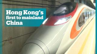 Hong Kong's first bullet train connects it to mainland China