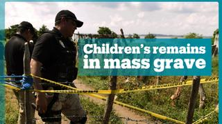 Mexico finds children's remains in mass grave
