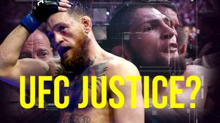 KHABIB VICTORIOUS. McGregor's trash talk sparks a brawl at UFC 229!​