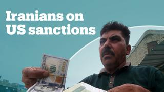 Iranians react to US sanctions