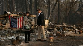 California Fires: Trump meets fire survivors during California visit