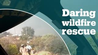 Northern California wildfire rescue operation
