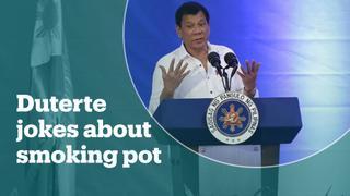Philippines president jokes about smoking marijuana