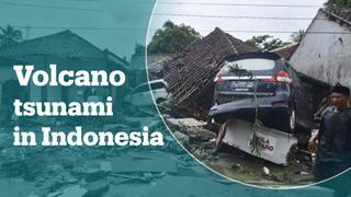 Volcano-triggered tsunami hits Indonesia