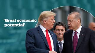 Trump says great potential for economic cooperation with Turkey