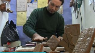 Cuneinform Art in Mosul: Iraqi sculptor revives ancient writing system