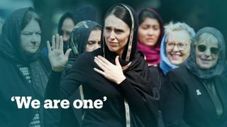 New Zealand's Prime Minister Jacinda Ardern says 'We are one' at Friday prayer gathering