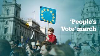 Massive anti-Brexit march in London
