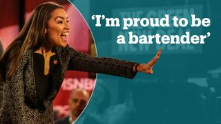 This is how AOC responded to Trump's 'bartender' jab