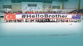 #HelloBrother at the world ice hockey championship
