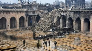 The War in Syria: Ancient city of Aleppo lies in ruins
