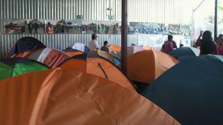 Tijuana Migrants: Hundreds of migrants wait to seek asylum