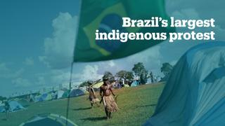 Brazil's Indigenous tribes protest to defend rights, lands