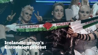 Icelandic band protests Israel at Eurovision