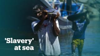 These Indonesian fishermen work under dire conditions with no pay