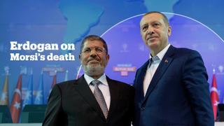 Turkish President Erdogan reacts to the death of Egypt's Mohamed Morsi