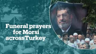 Mosques across Turkey hold funeral prayers for Egypt's Mohamed Morsi