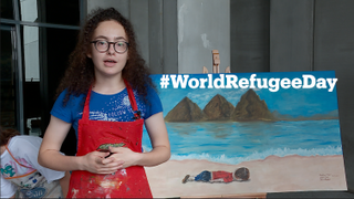 Students in Istanbul raise awareness about World Refugee Day through their art