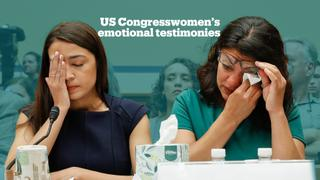 US congresswomen describe migrant camp conditions in emotional testimonies