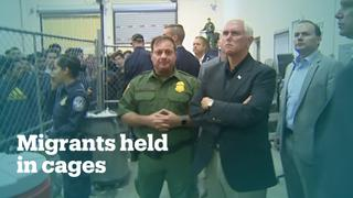Outrage over US vice president tour of migrant detention facilities