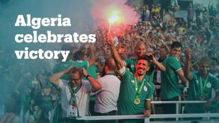 Algerians celebrate return of AFCON winning national team