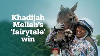 UK's first jockey to race in hijab and win