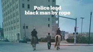 Footage of police leading black man by a rope sparks outrage