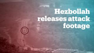 Hezbollah broadcasts footage of purported missile attack