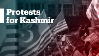 Protesters march in London and Perth for Kashmir