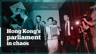 Hong Kong leader Carrie Lam heckled in parliament