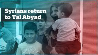 Syrian refugees prepare to return to Tal Abyad after it was liberated from YPG terrorists