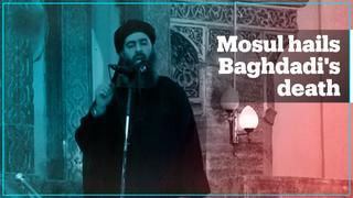 Mosul residents celebrate Daesh leader Abu Bakr al Baghdadi's death