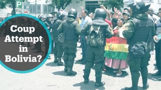 Bolivia Political Unrest: President says he's facing a coup attempt