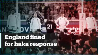 England fined for crossing halfway during New Zealand's haka