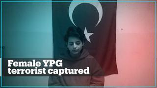 Female YPG terrorist captured in Syria