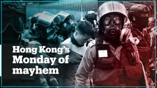 Hong Kong spirals into violence as police shoot protester