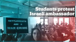 Harvard students stage walkout during Israeli ambassador's lecture