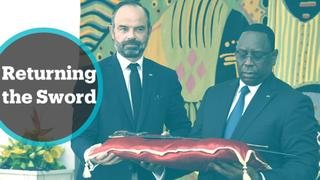Senegal Artefacts: French PM returns historic sword during his visit to Dakar
