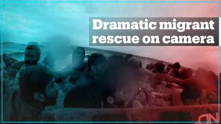 Dramatic video shows migrant rescue following boat capsize