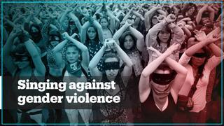 Women in South America sing against gender violence