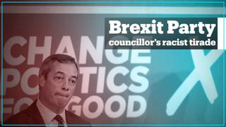 Brexit Party councillor caught on camera