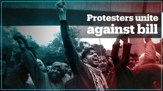 Hindus and Muslims unite at protests against Indian citizenship amendment bill