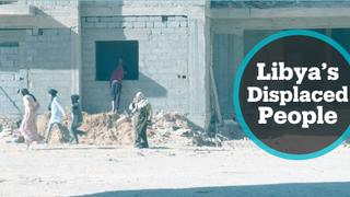 Displaced people desperately searching for shelters in Libya