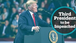 Trump becomes third US president to be impeached