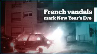 Hundreds of cars torched on New Year's Eve in France
