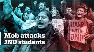 Students and teachers attacked at India's JNU