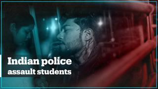 Indian police baton-charged and detained student protesters