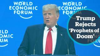 World Economic Forum: Trump praises business environment in US in keynote address